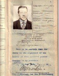 Johan Frederik Verrips Passport