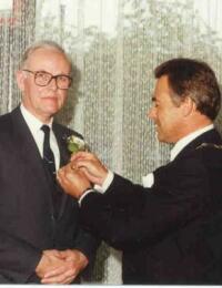 Bastiaan Verrips - koninklijke onderscheiding 1991